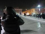 с горы ... на санках - ледянках - 2 :)